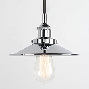 Pathson 8.7 Inch Metal Umbellate Industrial Hanging Pendant Light Lamp Fixture from Pathson