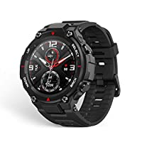Xiaomi Amazfit T-rex Smartwatch 1.3 Inch Round AMOLED Screen 14 Sports Modes 5ATM Water Resistant GPS Positioning - Rock Black