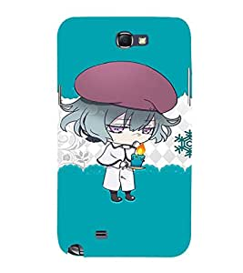 EPICCASE Girl with Blue Candy in Hand Mobile Back Case Cover For Samsung Galaxy Note 2 (Designer Case)