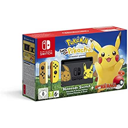 Nintendo Switch Pikachu & Eevee Edition + Pokémon: Let's Go, Pikachu! + Poké Ball
