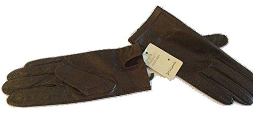 john-lewis-women-leather-gloves-medium-size-7-chocolate-washable
