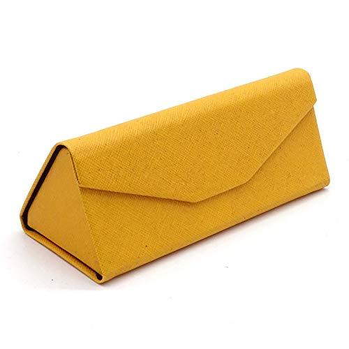 Gmkj Mode Hohe Qualität Gläser Box Dreieck Falten Sonnenbrille Box Handgemachte Box Gläser Marke Männer Und Frauen Gläser Aufbewahrungsbox (Farbe : Gelb)