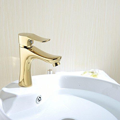 Küchenarmatur Waschtischarmatur Wasserfall Wasserhahn Bad Mischbatterie Badarmatur Waschbecken Badezimmer Vollkupfer verchromt Gold Bad Eitelkeit Küche moderne Warm- und Kaltwassermischer - Modernes Bad Eitelkeit