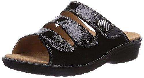 Ganter Hera, Weite H, Chaussures de Claquettes femme Gris - Grau (schwarz 0100)