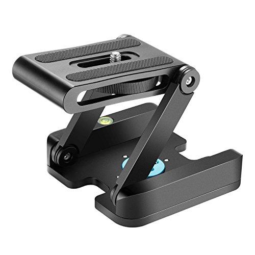 Neewer Z Flex Tilt Kugelkopf mit Quick Shoe QR Halterung für Kamera Aluminium Lega mit Bolla Wasserwaage für Canon Nikon Sony Camcorder