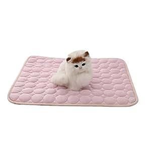 Aolvo Dog Cooling Mat/Pad/letto, tappetini di raffreddamento Pet taglia extra large per cani e gatti–Cool tessuto, non tossica, non adesive–Keep Pets Cool, prevenire surriscaldamento, Cool Stuff for Pet–blu