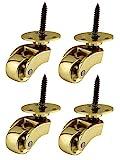 laiton massif de haute qualité Roulettes Roulettes avec roues de...
