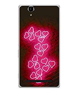 PrintVisa Designer Back Case Cover for Sony Xperia T2 Ultra :: Sony Xperia T2 Ultra Dual SIM D5322 :: Sony Xperia T2 Ultra XM50h (Heart Shaped Art Love Brick Wall)