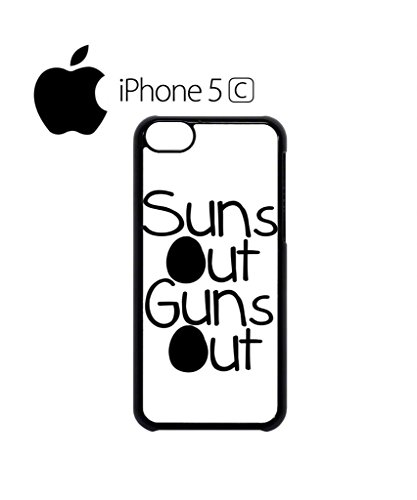 Suns Out Guns Out Summer Gym Muscle Funny Hipster Swag Mobile Phone Case Back Cover Hülle Weiß Schwarz for iPhone 5c White Schwarz