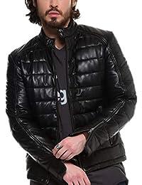 Arturo - Blouson Cuir matelassé Taille Homme - 3XL, Couleur - Noir 2d424297ae8