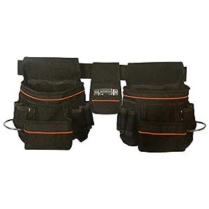 BeMatik – Cinturón para herramientas Portaherramientas con bolsa para clavos y bucle para martillo