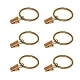 Coideal Gardinenstangen-Clips, 30 Stück, rostfrei, Metall Draperierring mit Haken/Aufhängeklammern mit Ösen für schwere Gardinenstangen und Vorhänge, Metall, Gold, 1.5 Inch
