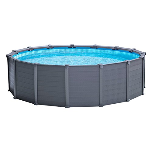 Intex 28382 Kit Piscine Panneau Graphite 4,78 m X 1,24 m