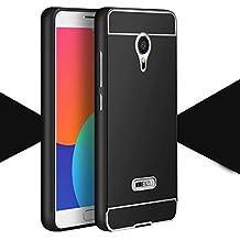 Prevoa ® 丨Meizu M2 Note Funda - Aluminum Bumper Funda PC Back Case para Meizu M2 Note 5.5 Pulgadas Smartphone - Negro