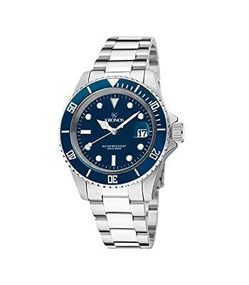 Kronos - Sport Q 200MTS Black 977.8.65 - Reloj Diver de Caballero de Cuarzo, Brazalete de Acero, Color Esfera: Azul de Kronos