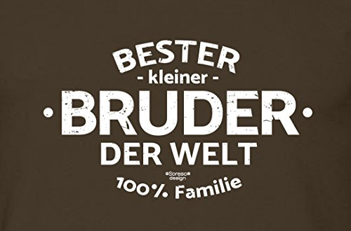 Herren Männer Motiv T-Shirt Geburtstags-Weihnachts-Geschenk Geschenkidee Bruder Bester Bruder der Welt auch in Übergrößen braun-13