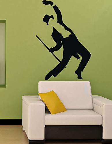 Vinyl Aufkleber Aufkleber Wandbild Dekor Mann Tänzer Tanz mit einem Stock 1 79x114cm ()