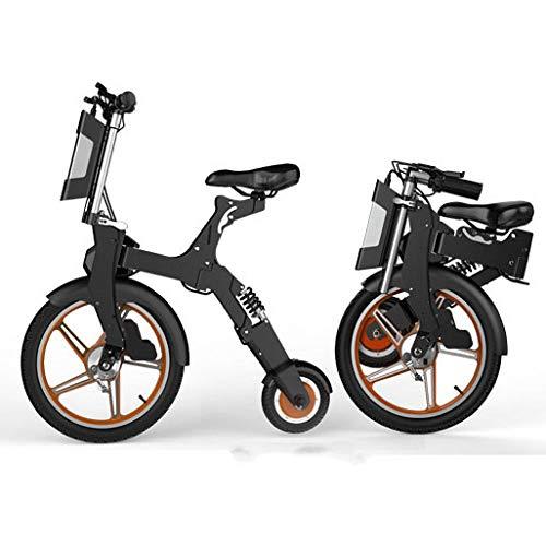Hold E-Bikes Elektroroller Mini Faltbares Dreirad Gewicht 16.5KG Volle Ladung 25 30KM Reichweite Besonders geeignet für Menschen, die Unterstützung bei der Mobilität und Reisen benötigen Orange 35 km