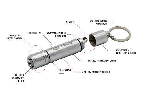 True Utility® FireLite - Llavero con mechero y Linterna