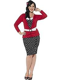 Las mujeres adulto disfraz Halloween Party Ladies curvas 50de Pin Up disfraz