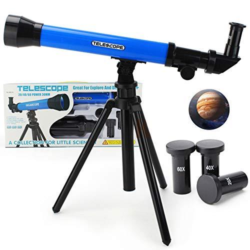 DDSGG Astronomisches Teleskop Kinder,Spiegel Teleskop Stern,Verstellbarem Stativ,Anfänger Sieh Den Mond Und Die Sterne Als Geschenk