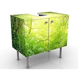 Apalis Design Vanity Dream Magic Forest 60x55x35cm, small, 60cm wide, adjustable, wash basin, vanity unit, washstand, bathroom cupboard, base unit, bathroom, narrow, flat
