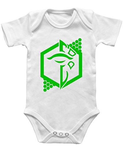 ment (Grün) - Babybody Weiss, Größe 12/18 Monate ()