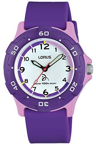 Lorus Kids Montre Mixte Analogique Quartz avec Bracelet Silicone RRX19GX9