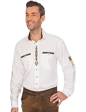 Trachtenhemd mit Langem Arm - Albin - Weiß