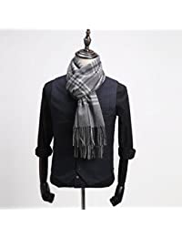 XIAOLIN-- Scarf Men Autumn and Winter Stripes Pattern Tassel Design Business Casual --Outdoor warm scarf