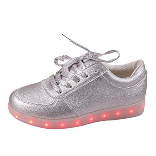 (Présents:petite serviette)JUNGLEST LED chaussure clignotante avec 7 couleurs led USB rechargeable basket lumineuse chaussure de sport en couleur noir Blanc