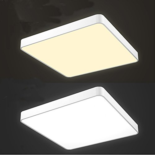 36W LED Deckenleuchte Dimmbar 45CM 3000-7000K Deckenlampe Warmweiß + Kaltweiß + Weiß 2900LM Lichtfarbe und Helligkeit einstellbar Fit Esszimmer Deckenbeleuchtung Badezimmer geeignet Moderne