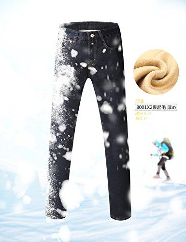Demon&Hunter 801 Serie Herren Polares Vlies Gerade geschnitten Jeanshose Jeans DH8001x2 x Dunkelblau