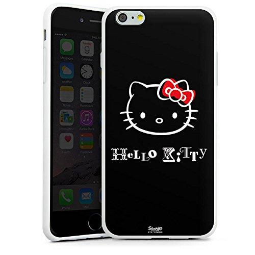 Apple iPhone X Silikon Hülle Case Schutzhülle Hello Kitty Merchandise Fanartikel Love Silikon Case weiß