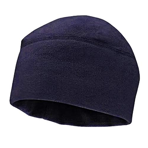Cuigu - berretto da uomo, invernale, caldo, solido, colorato, in pile spesso, morbido, esercito militare, cappello antivento, cappelli, marine, 10.63x8.27in