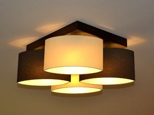 Deckenlampe Deckenleuchte Lampe Leuchte 4 Flammig TOP Design ROMA RO D4 Braun Creme Amazonde Beleuchtung