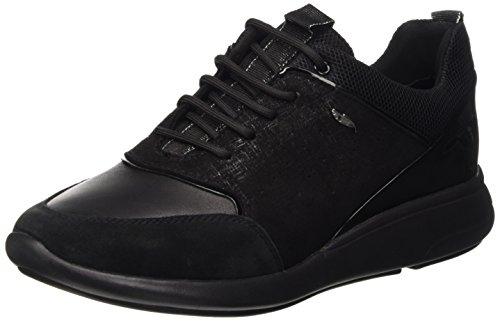 Geox d ophira b, scarpe da ginnastica basse donna, schwarz (blackc9999), 41 eu