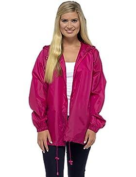 Storm Ridge–Pack away Rain Mac chaqueta de cremallera completa