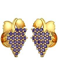 Joyalukkas 22k (916) Fruits/Vegetable Collection Yellow Gold Stud Earrings for Girls