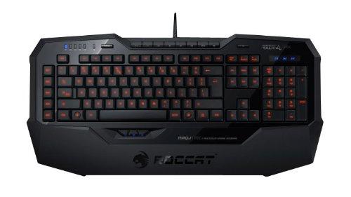 Roccat-Isku-FX-Multicolor-Gaming-Tastatur-DE-Layout-Multicolor-Tastenbeleuchtung-36-Makrotasten-inkl-3-Thumbster-Tasten-schwarz