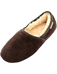SNUGRUGS Harry, Mens Sheepskin Loafer Slipper, Zapatillas de Estar por Casa para Hombre