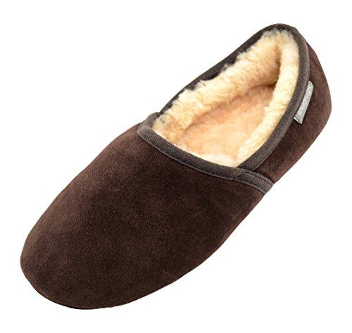 Harry Mens Di Pantofola Uomo Pantofole Pelle Pecora Marrone Fannullone Snugrugs Di Z1dZq