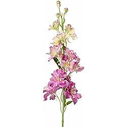 artplants Künstlicher Rittersporn RASMINE, rosa, 60 cm, Ø 10 cm - Delphinium Blume/Kunstblumen