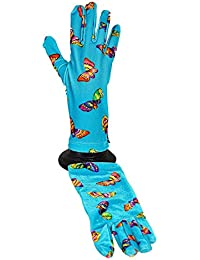 Moschino - Gants fantaisies Papillons turquoise