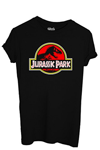 T-Shirt JURASSIC PARK LOGO - FILM by iMage Dress Your Style - Donna-M-NERA