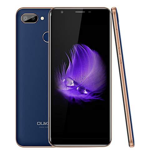 4G Smartphone ohne Vertrag, OUKITEL C11 Pro 2019, Billige Senioren Handy, 5.5 Zoll 18: 9, Android 8.1 Mobile, 3GB +16GB, 3400mAh Akku, Portable Dual SIM, GPS, Günstige Handy unter 100 Euro, Blau