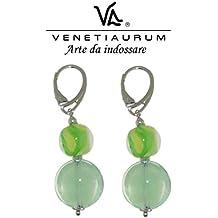 Venetiaurum - Orecchini donna in vetro di Murano e Argento 925 Made in Italy