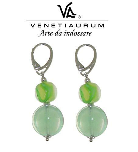 orecchini pendenti argento Venetiaurum - Orecchini donna in vetro di Murano e Argento 925 Made in Italy