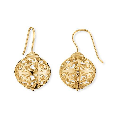 Engelsrufer Classic Ohrhänger für Damen vergoldetes 925er-Sterlingsilber Größe 15 mm