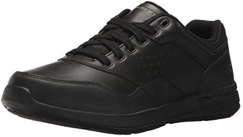 Skechers Herren Elent Velago 65406-BBK Sneaker, Schwarz (Black), 43 EU (Box-speicher Sneaker)